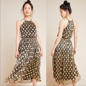 Brand New! Confetti Halter Midi Dress